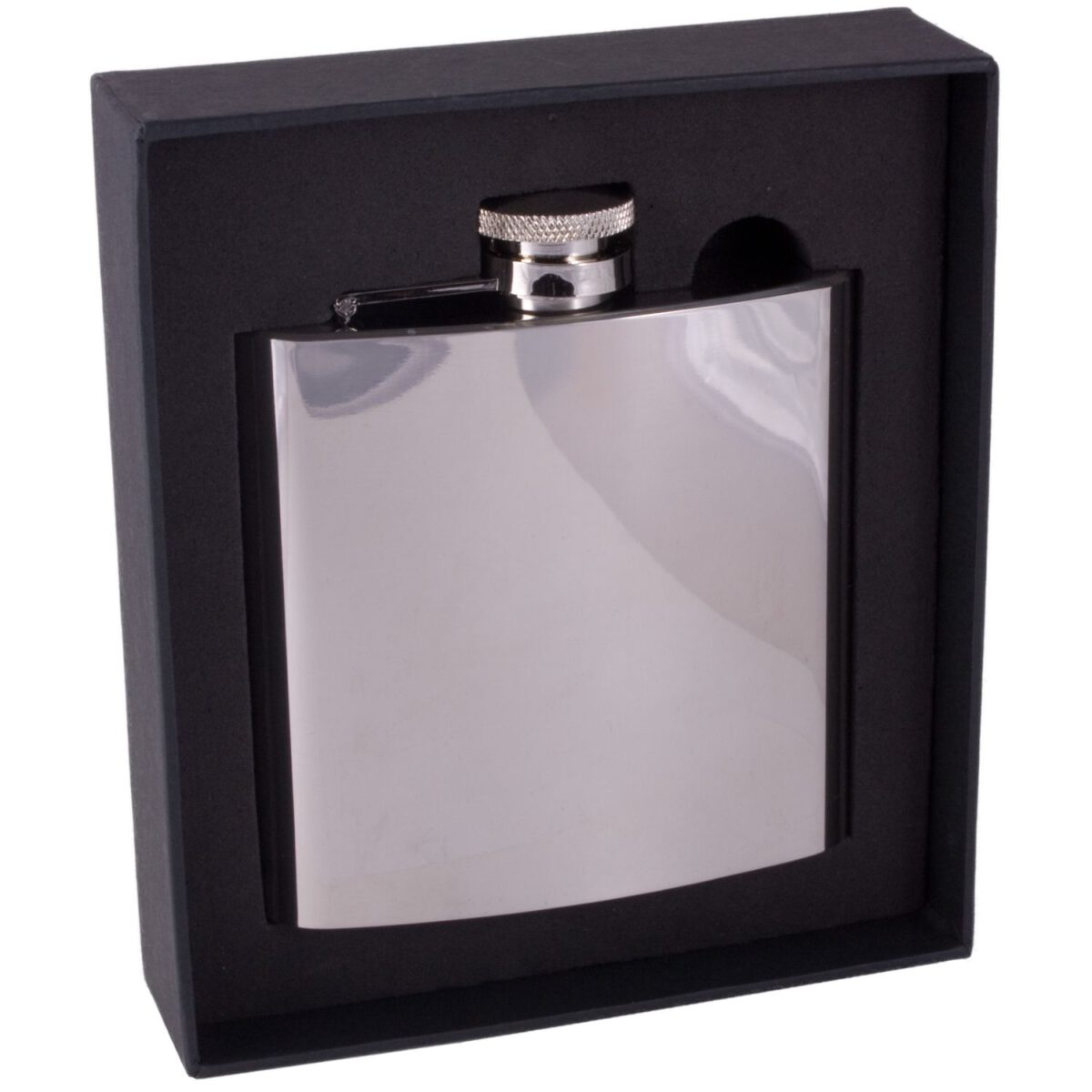 6oz Polished Stainless Steel Men's Hip Flask-1021