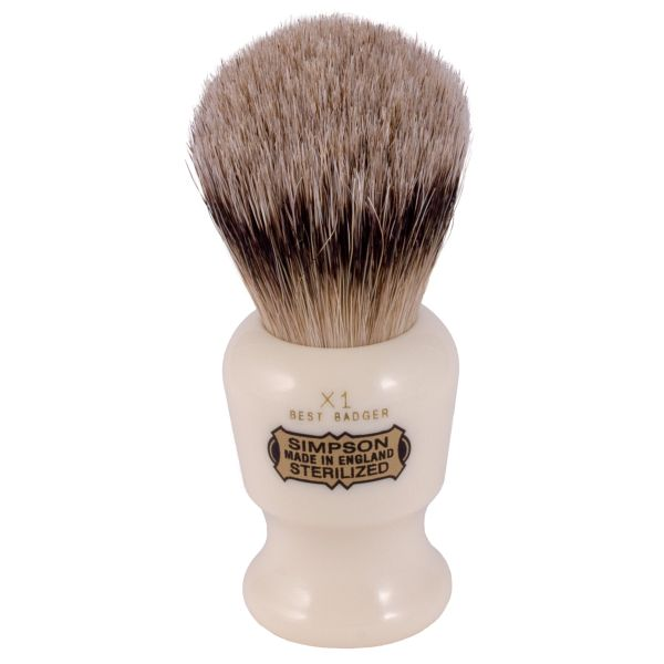 simpsons badger hair shaving brush