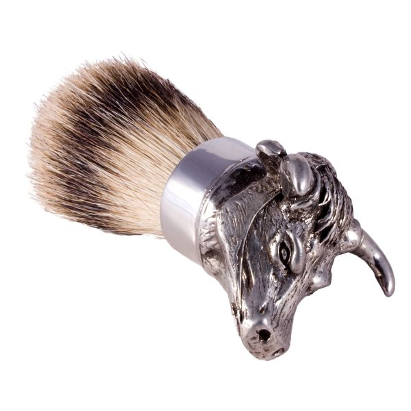 English Pewter bager hair shaving brush