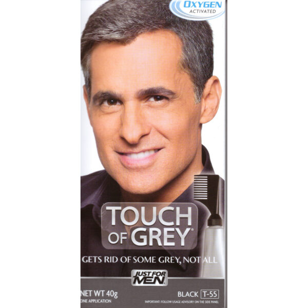 Touch Of Grey Mens Hair Treatment - Black Grey T55-0