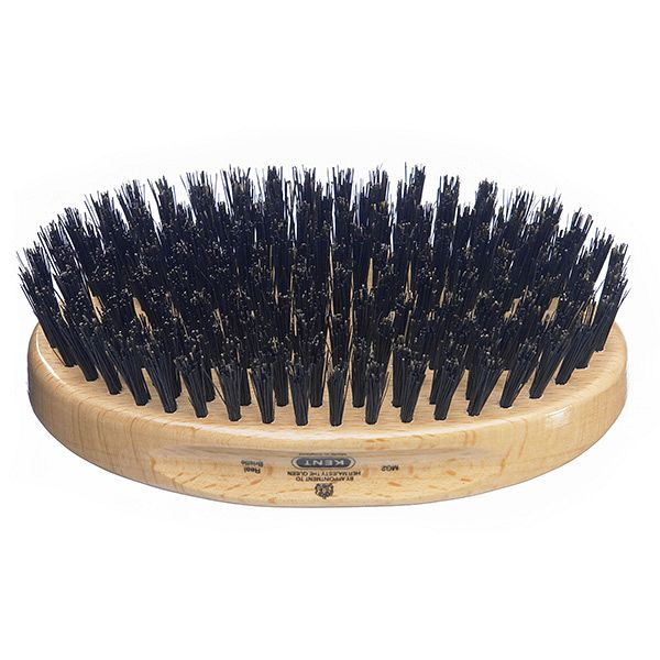 Kent Men's Military Beech Wood Hair Brush Oval (MG2)-0