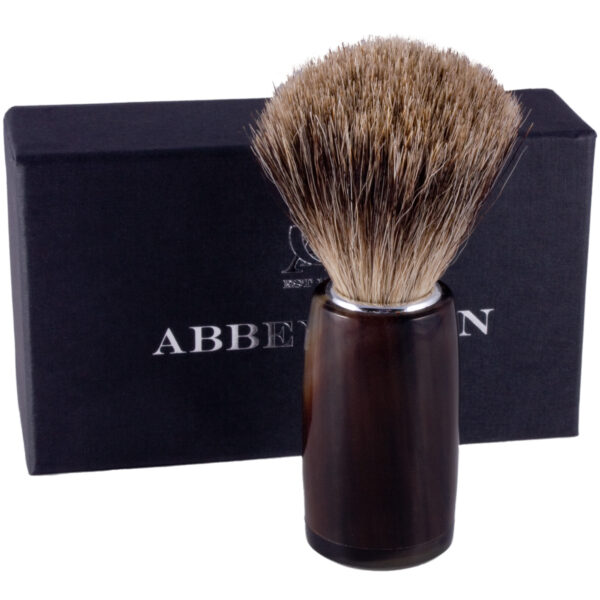 AbbeyHorn Handmade Natural Horn Badger Hair Shaving Brush
