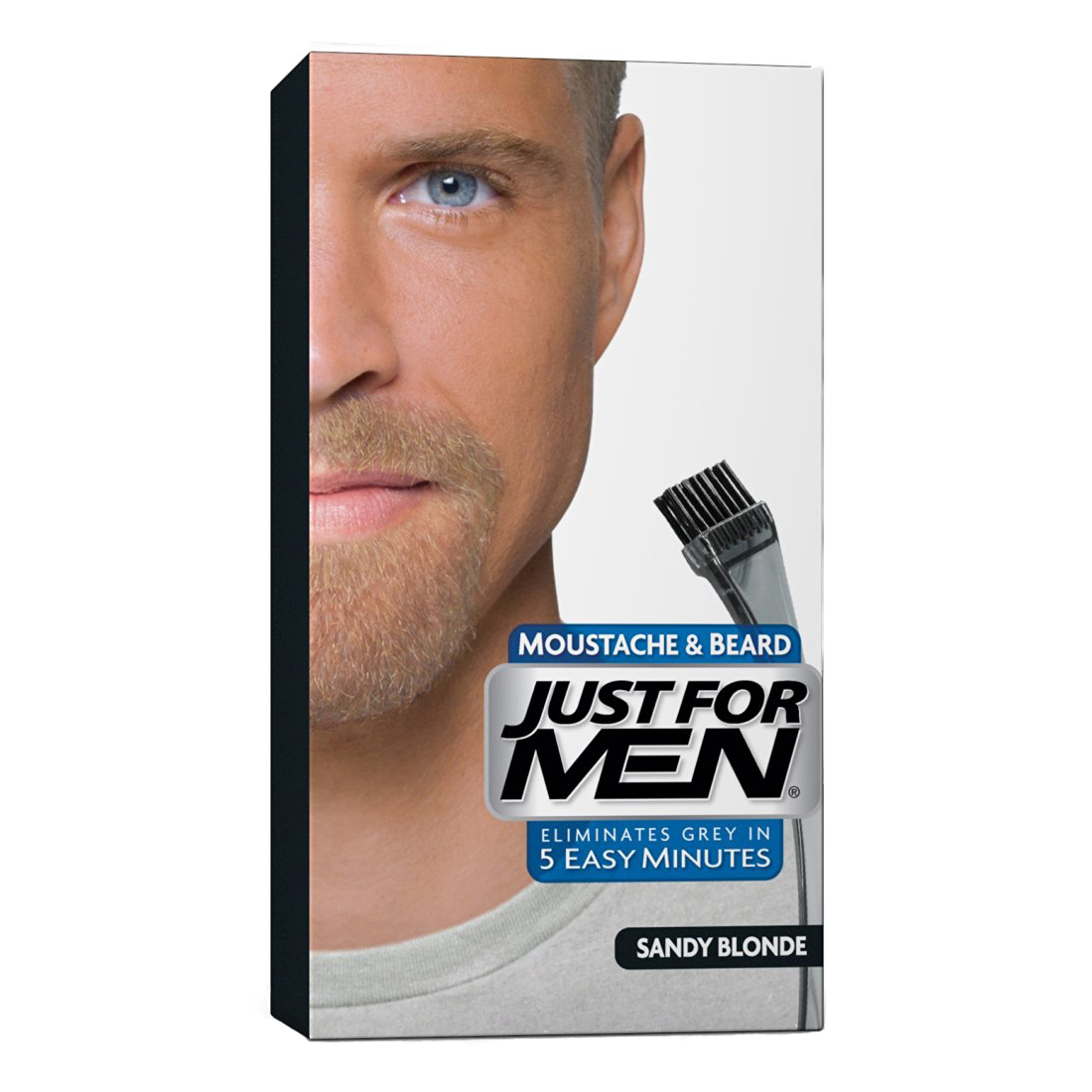 Just For Men Moustache & Beard Brush-In Colour Gel - Choose your colour-Sandy Blonde M10-0
