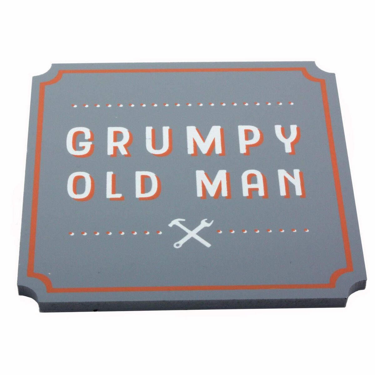 The Hardware Store Wooden Coaster - Grumpy Old Man-0