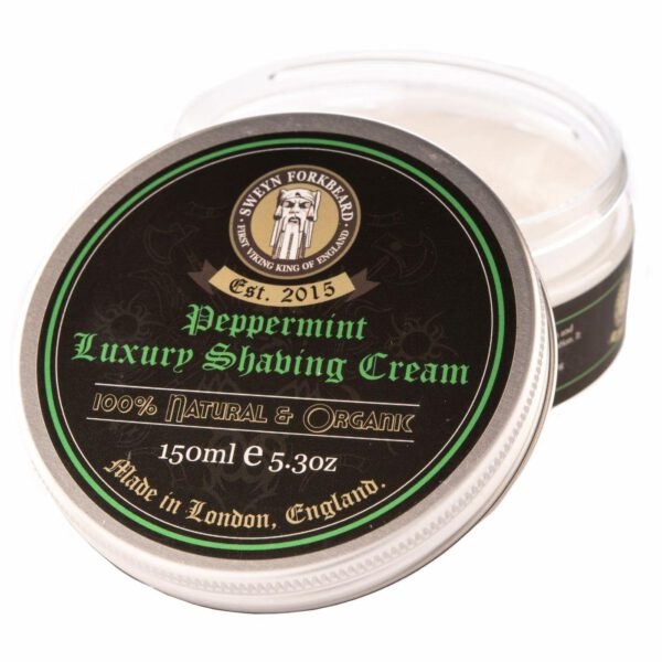 Sweyn Forkbeard Luxury Shaving Cream - 150ml Peppermint-0