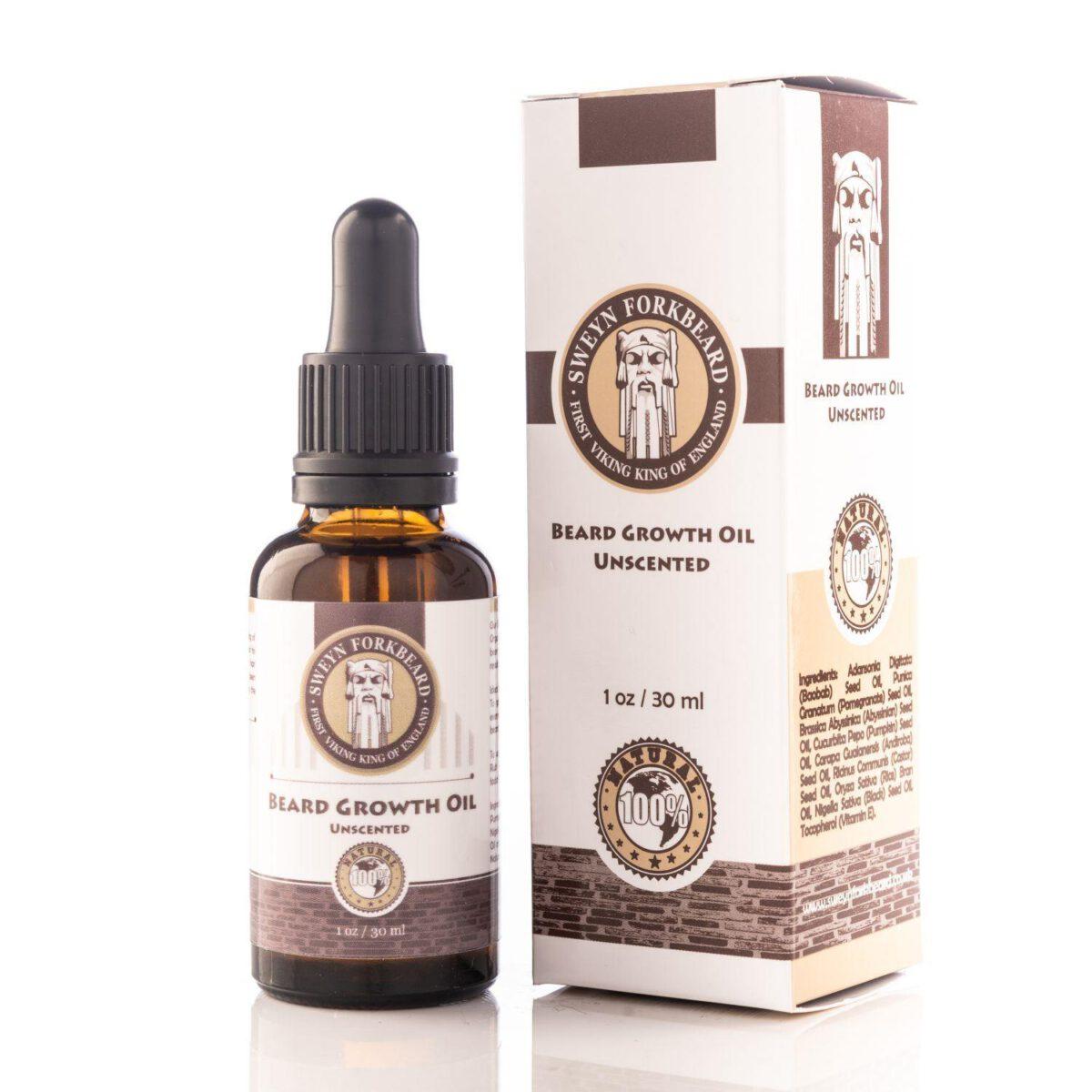 Sweyn Forkbeard Beard Growth Oil - 30ml Unscented-0