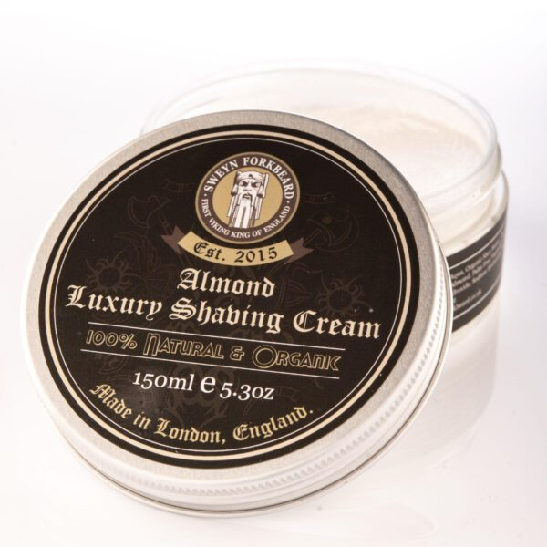Sweyn Forkbeard Luxury Shaving Cream - 150ml Almond-0