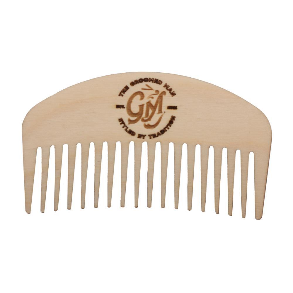 The Groomed Man Birchwood Beard Comb-0