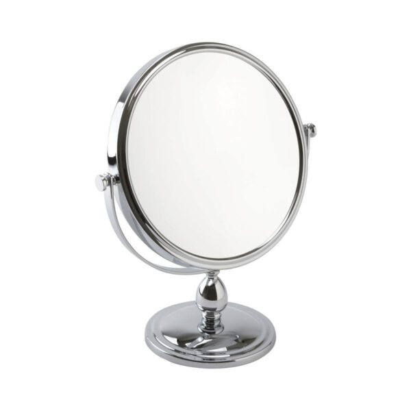 Free Standing Pedestal Vanity Mirror 10X Magnifying - Chrome-0