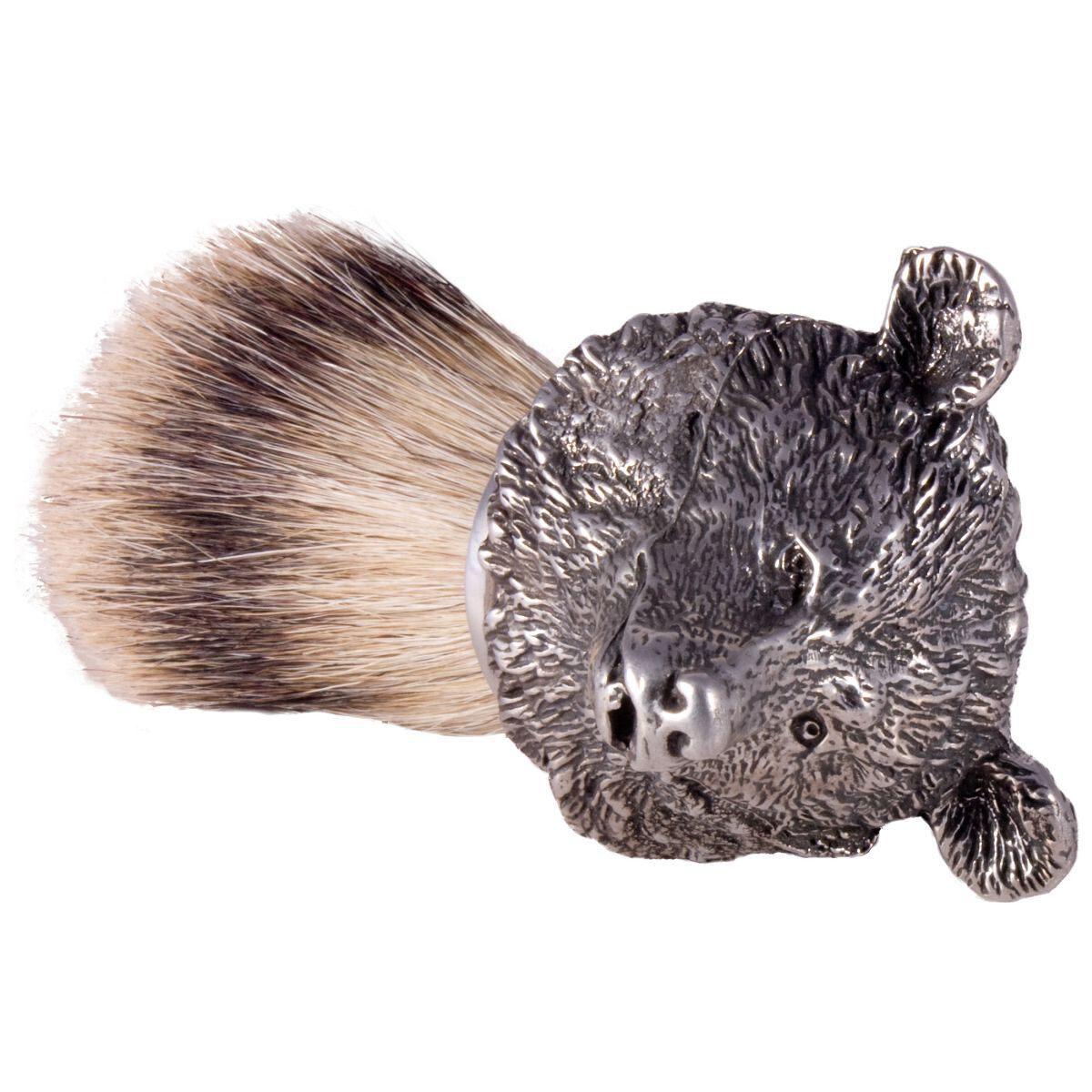 silver tip hair shaving brush