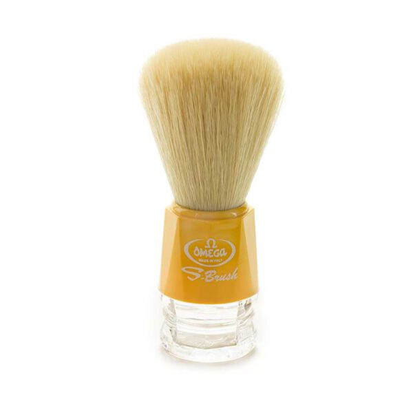 omega shaving brush yellow